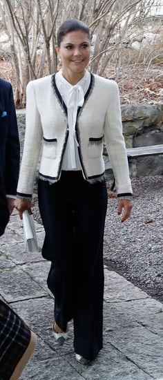 Crown Princess Victoria in black and white