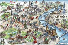 Plagát Mapa Londýna