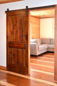 The very great option to choose is the one called interior sliding barn doors.You can get the barn style interior sliding doors one from the store already Interior Sliding Barn Doors, Sliding Barn Door Hardware, Sliding Doors, Wood Barn Door, Diy Barn Door, Sliding Door Window Treatments, Contemporary Barn, Inside Barn Doors, House Design