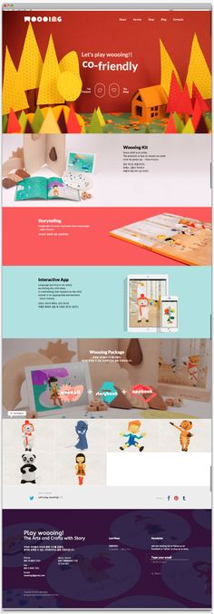 """Wood + Doing = """"Woooing"""" """"Woooing"""" is a creative educational content for Korean children age of 4 to 6. """"Woooing"""" offers three…"""