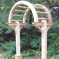 Wooden Garden Arbors custom made out of Western Red Cedar | New England Woodworks