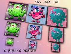 Cute 3D Textured Monsters Mega Pack of Five Digital by Osister, $4.00