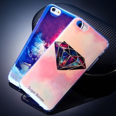 Case For iPhone 5 5S SE 6 6S 6 Plus 7 Cover Blu-ray Diamond Silicone Soft TPU Fundas Coque For iPhone 5 5s 7 6 6s Plus Cases 7
