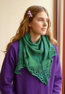 A few ways to wear a triangle shawl - enjoy knitting them but don't always know how to accessorise.
