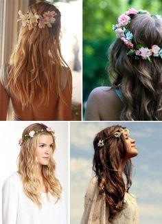 Flores en el pelo...