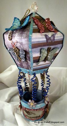 Vic's Creations: CC3C Challenge 2 - Distress Glittered Butterfly Pa...