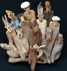 Grape wood branches vary due to mother nature - each branch is unique Has been sandblasted clean and is ready to be added to your terrarium. Driftwood Fish, Painted Driftwood, Driftwood Sculpture, Wooden Art, Wooden Crafts, Driftwood Projects, Sea Crafts, Wood Creations, Recycled Art