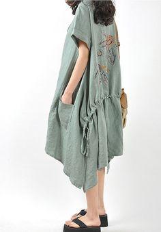 Loose put on a large linen mini dress. $99.00, via Etsy.