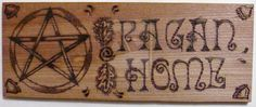 My third attempt at wood burning. My original tool didn't heat up enough and ended up carving my surfaces more than burning them. Pagan Home Wood Burning Crafts, Wood Burning Patterns, Decor Crafts, Wood Crafts, Pagan Decor, Witch Signs, Witchcraft Books, Witches Brew, Paganism