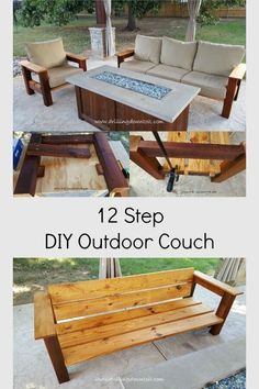 DIY Outdoor Couch - Patio Furniture - Ideas of Patio Furniture -. - DIY Outdoor Couch – Patio Furniture – Ideas of Patio Furniture – 12 step DIY -