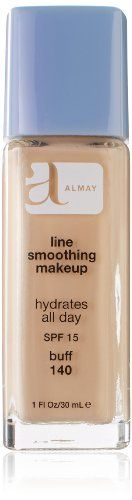Almay Line Smoothing Makeup with SPF 15 Buff 140 1 Ounce Bottle *** Continue to the product at the image link. Shaving Oil, Best Concealer, Smooth Face, Olay Regenerist, Waterproof Makeup, Even Skin Tone, Airbrush Makeup, No Foundation Makeup