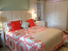 Newly decorated master bedroom.