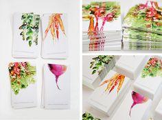 business card design watercolor painterly minimal holli thompson