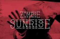 Zombie Sunrise font + patterns by davidiscreative on @creativemarket