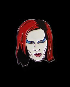 Marilyn Manson collab pin from @windowblues and me @pinlord  We wish The Pale Emperor a quick recovery!  Available to purchase through my @pinlord link in bio! Last few left!