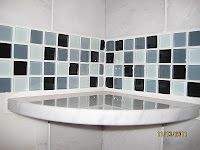 I'd like to replace one row of tile in the kid's bath with these glass tiles from HD.