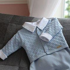 O conjunto Tijolinho azul vai deixar seu filho muito elegante e confortável! =) #maternidade #fashionbaby #itsaboy #enxovaldebebe #enxoval
