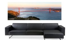 San Francisco's Golden Gate bridge is not only an incredible feat of engineering, it signifies all the joy, energy and possibility that SF has to offer. On sale! $49, Elementem Photography, 2 sizes available 20x60 inches or 24x72 inches, canvas, California, San Francisco, SF, cityscape, bridge, Golden Gate, orange, ocean, sea