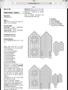 Bilderesultat for enkel oppskrift selbuvotter Knitted Mittens Pattern, Mitten Gloves, Knitting Patterns, Norwegian Knitting, Pixel Pattern, Drops Design, Stuff To Do, Knit Crochet, Tricot