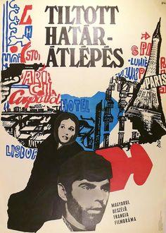 ) - Tiltott határátlépés /Voyage of Silence Paris, Movies, Movie Posters, Travel, Montmartre Paris, Films, Film Poster, Paris France, Cinema