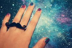 Hipster, Moustache, Galaxy, Ring.