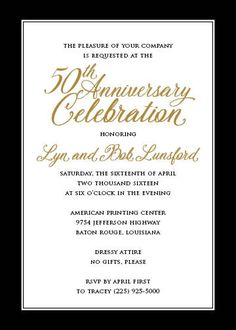 7 Best Anniversary Party Invitations Images Anniversary Party