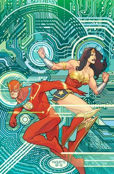 Justice League #9 variant cover by Yanick Paquette, colours by Nathan Fairbairn *