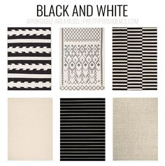 Perfect Black And White Rugs. Affordable Area Rugs   5x7 Less Than $150 Or 8x10 Less