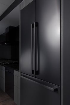 Samsung Electronics America has revealed a new Chef Collection line of premium built-in appliances available in matte black- or regular-stainless steel. Wi-fi connectivity allows owners to view their contents anywhere on their smartphone, via a camera built into the fridge. Hidden electronic controls and a cabinet that can switch from freezer to fridge at the push of a button are also highlights.