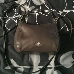 Leather coach crossbody bag Brown leather crossbody bag Coach Bags