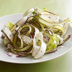 Fresh Asparagus Ribbon Salad; LOVE the idea of using shaved asparagus in a salad like this. [from BHG.com]