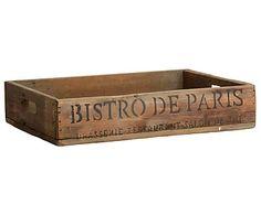 Деревянный поднос Bistro de Paris - бежевый, 8х29х40 см