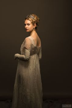 Lily James - War & Peace (2016) (2002×3000) #hair #hairstyle