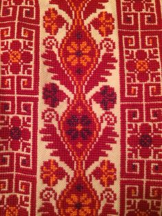 Close up pic of Palestinian thobe embroidery