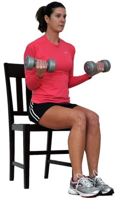 Try This Seated Total Body Workout for Overweight and Obese Exercisers: Biceps Curls