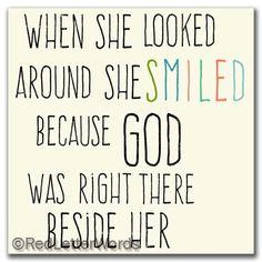 redletterwords - She Smiled...Present - 5x5 Cafe Mount, $19.00 (http://www.redletterwords.com/she-smiled-present-5x5-cafe-mount/)