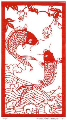koi papercut simple - Google Search