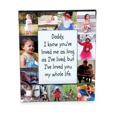 Daddy I loved you all my life frame First Fathers Day Photo Frame Picture Frame Gift Photo Collage Gift Personalized center - Daddy - Bilderrahmen Fathers Day Frames, 1st Fathers Day Gifts, Fathers Day Pictures, Dad Pictures, Easy Fathers Day Craft, Fathers Day Photo, Crafts With Pictures, Dad Gifts, Daddy I Love You
