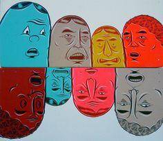 Barry McGee & Phil Frost 'Mind the Gap' Exhibit Margaret Kilgallen, Barry Mcgee, Mind The Gap, Pop Surrealism, Urban Art, Art Lessons, Sculpture Art, Contemporary Art, Street Art