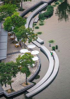 Реконструкция набережной в Китае