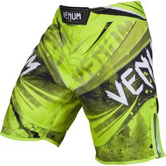 Venum Galactic Fight Shorts - Neon Green