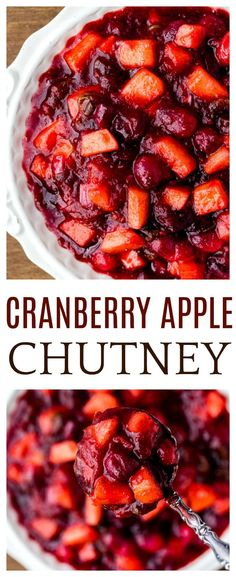 Cranberry Apple Chutney is a simple recipe with sweet and savory ingredients . - Recipes - Cranberry Apple Chutney is a simple recipe with sweet and savory ingredients …, # - Thanksgiving Side Dishes, Thanksgiving Recipes, Turkey Side Dishes, Christmas Main Dishes, Holiday Side Dishes, Thanksgiving Holiday, Holiday Meals, Holiday Recipes, Christmas Meals