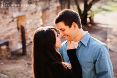 Awesome engagement shoot.  Love the rustic, woodsy feel.  Heather Elizabeth Photography
