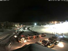 Live Webcam from Lapland in the town of Levi in Finland snapshot taken from live webcam on 21st December 2013