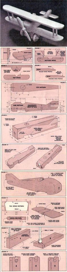 Wooden Biplane Plans - Children's Wooden Toy Plans and Projects