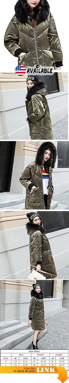 "B077BTQ42D : Youtobin Women's Casual Street Fur Hood Long Puffer Padded Coat XL Army green. M:Bust:43.31""/110cm.Sleeve:26.38""/67cm.Length:35.83""/91cm. === L:Bust:44.88""/114cm.Sleeve:26.77""/68cm.Length:36.22""/92cm. === XL:Bust:46.46""/118cm.Sleeve:27.17""/69cm.Length:36.61""/93cm.. The coat is not American codeplease pay attention to the last image on the left inside of the size chart and choose the suit size.(All measurement in cm and please note 1""=2.54 cm). Product categories:"