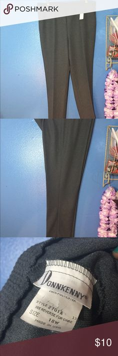 Gray Dress Pants Gray pants that fit like a size 16/18. I like that hem because these pants are wrinkle free and the crease stays. Nice dress pants for business attire. DonnKenney Pants Trousers