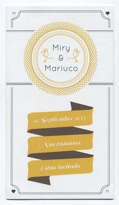 Miry & Mariuco {Invitación de Boda} Notebook, Wedding Invitations, Creativity, Projects, Exercise Book, The Notebook