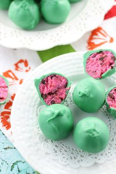 Watermelon cake balls - such a cute dessert idea!