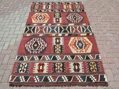 "Anatolia Turkish Blackgoats Nomads Kilim 57 8"" x 93 7"" Area Rug Carpet   eBay"